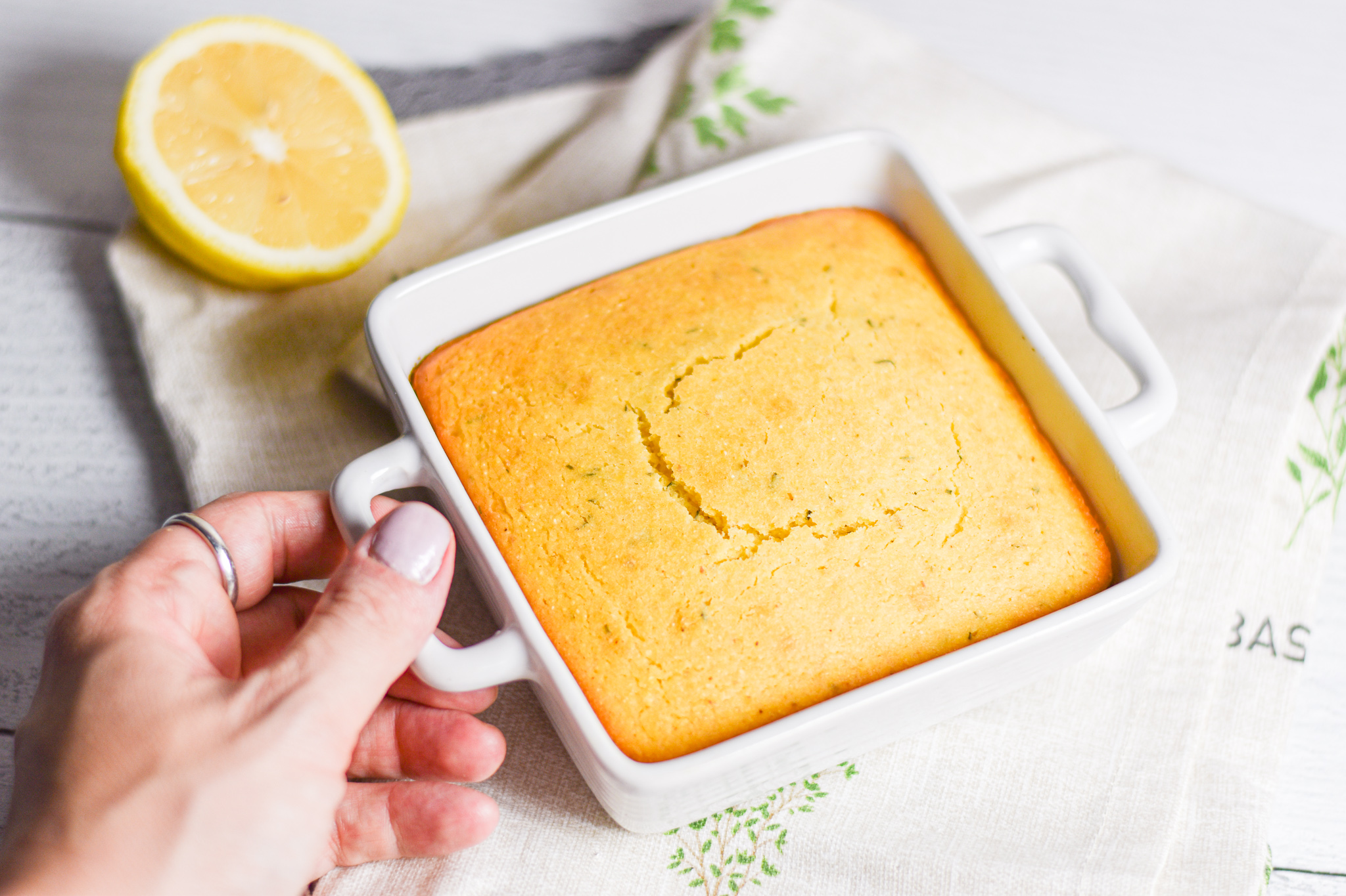 Lemon Thyme Cornbread by Candidly Delicious