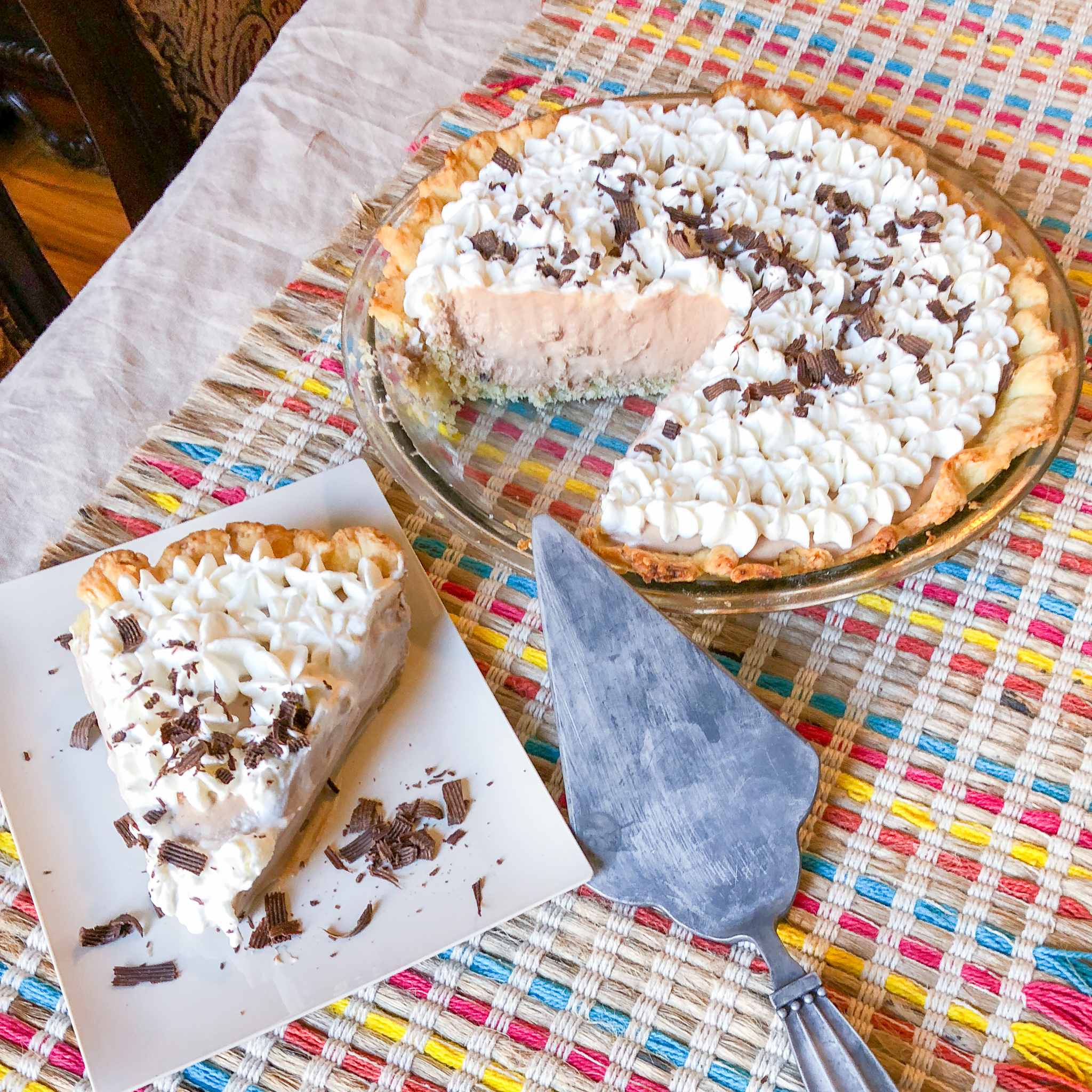 Dairy-free French Silk Pie by Candidly Delicious